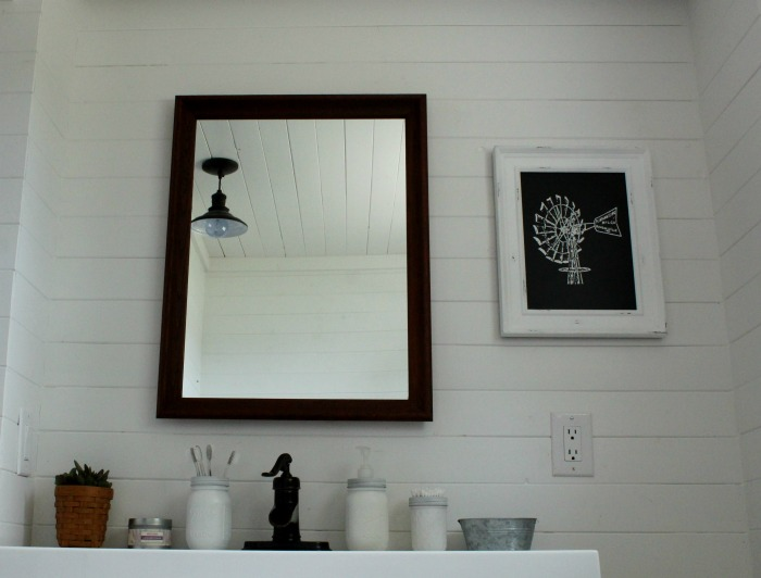 Repurposed Thrift Store Frame Into Farmhouse Bathroom Mirror | www.knickoftime.net