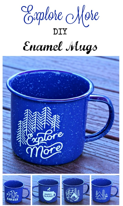 Chalk Couture Explore More Set DIY Enamel Camping Mugs by Knick of Time | knickoftime.net