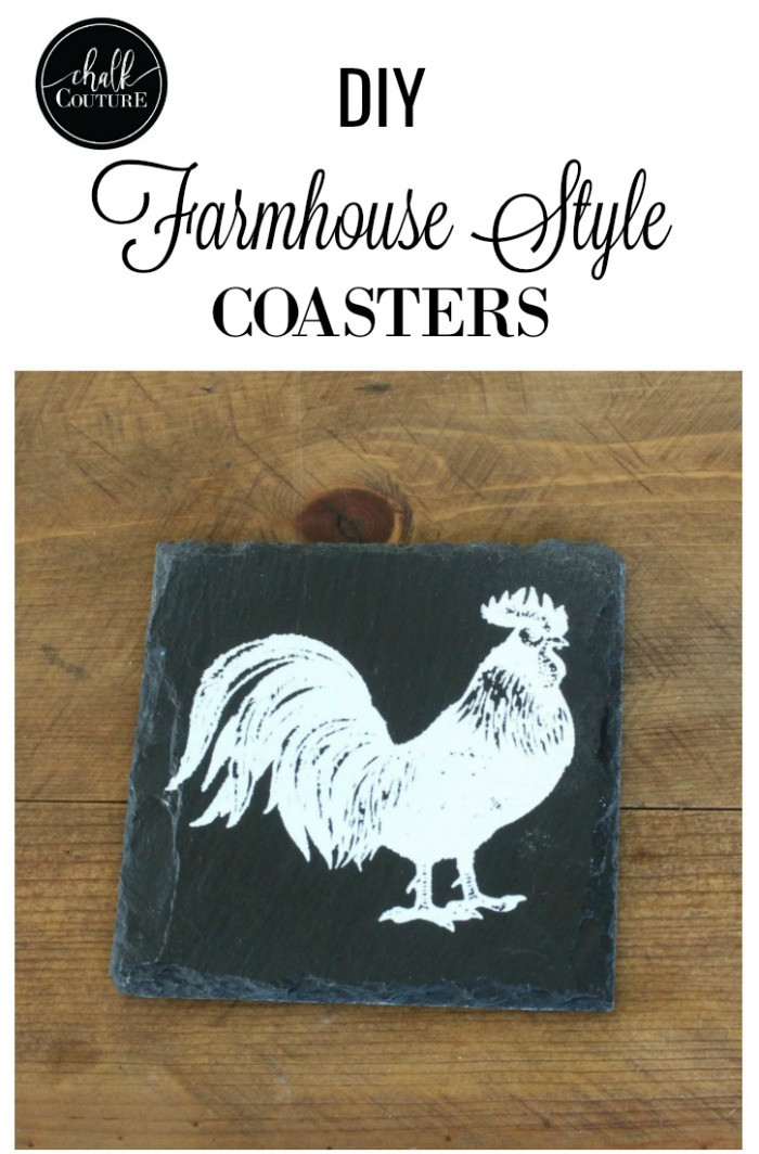 Chalk Couture Farmhouse Style Slate DIY Coasters | knickoftime.net #KnickofTime #farmhousestyle #farmhousestyle #farmhousekitchen #diy #diyhomedecor