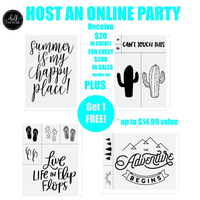 Schedule a Chalk Couture Online Party with Knick of Time and Get FREE products! | knickoftime.net