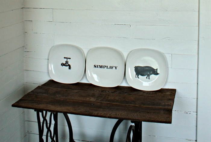 15 Minute DIY Decorative Farmhouse Style Plates! | knickofime.net