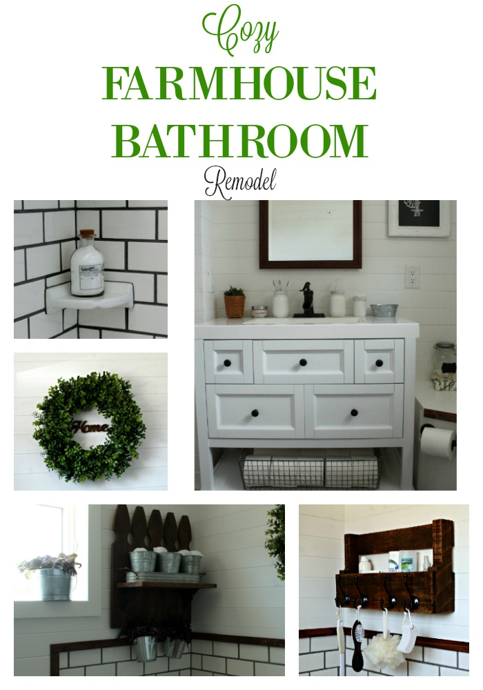 Cozy Light Bright Rustic Modern Farmhouse DIY Bathroom Remodel by Knick of Time | knickoftime.net