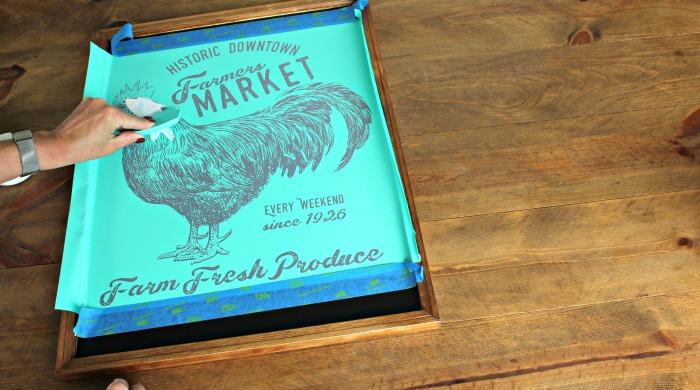DIY Farmers Market Chalkboard Tutorial by Knick of Time | www.knickoftime.net