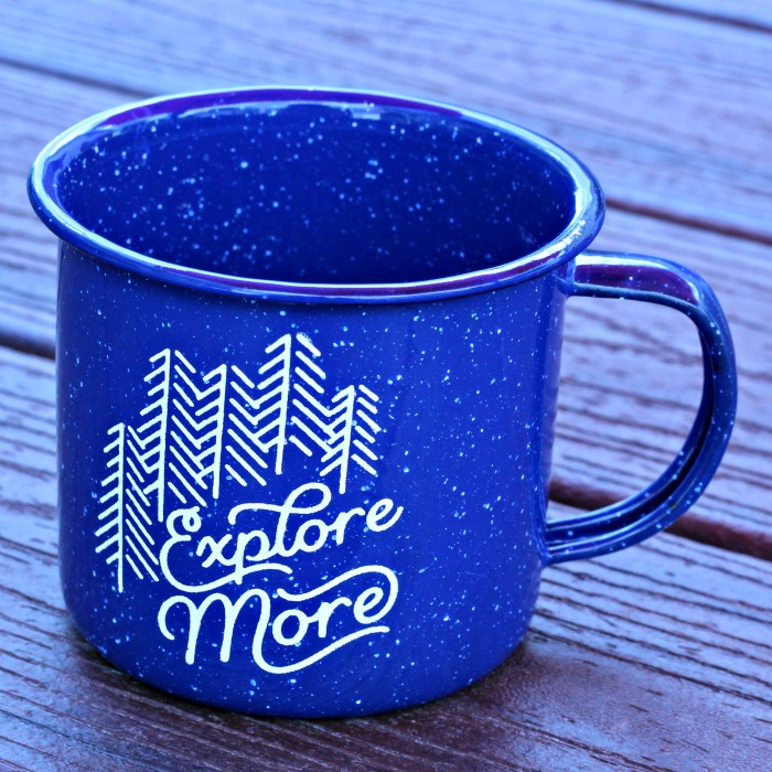 Explore More #Outside Enamel Camping Mugs by Knick of Time | knickoftime.net