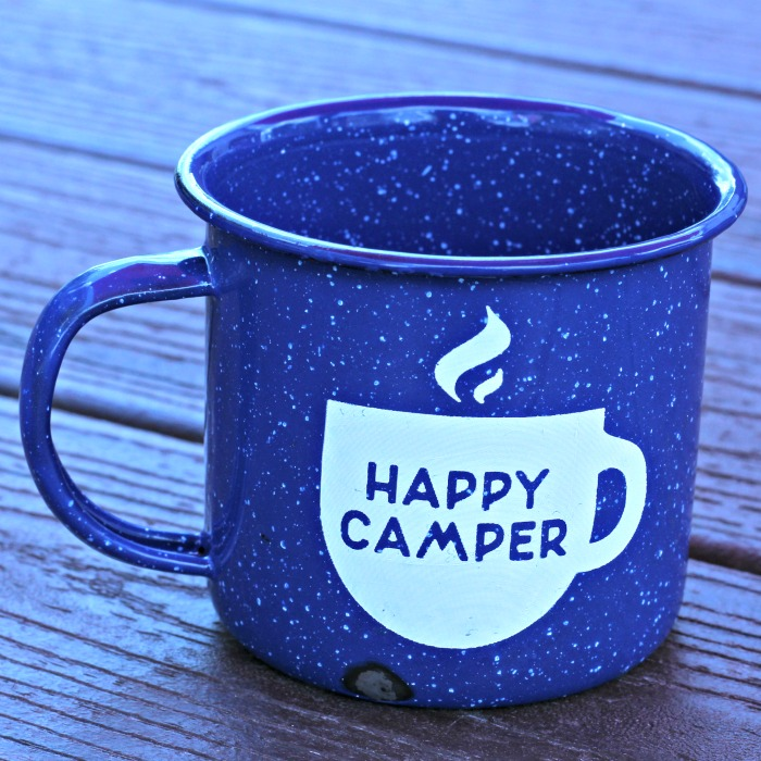 Explore More Happy Camper Enamel Camping Mugs by Knick of Time | knickoftime.net