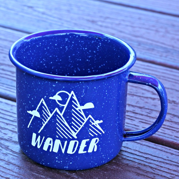 Explore More Wander Enamel Camping Mugs by Knick of Time | knickoftime.net