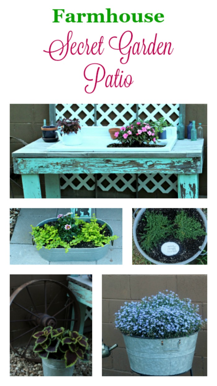 Farmhouse Secret Garden Patio | knickoftime.net