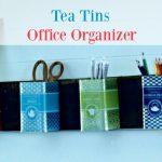 Repurposed Tea Tins Office Organizer