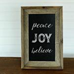 Barnwood Christmas DIY Chalkboard: Peace Joy Believe + Fun News!