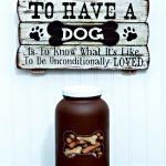 Dog Bone DIY Treats Storage Jar