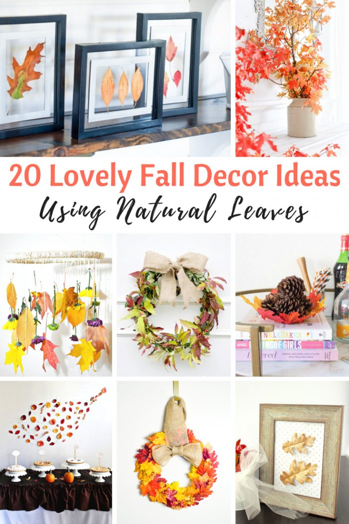Make some of these Fall Leaves Decor Project Ideas. 20 Stunning but Easy Autumn Crafts for people who adore fall! | knickoftime.net