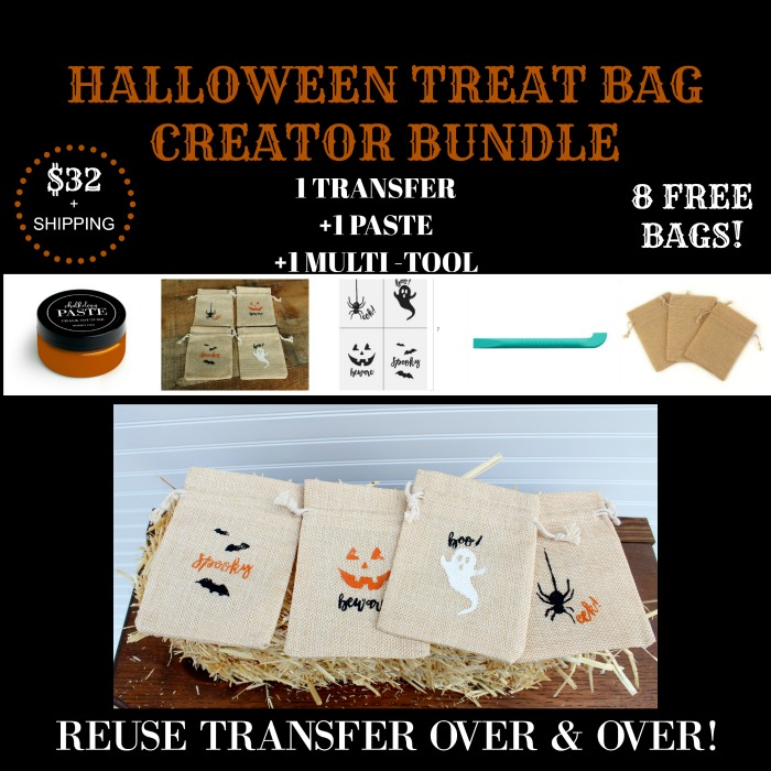 Make some adorable Halloween treat bags in minutes with the Chalk Couture Halloween Fun Transfer set. Kids will love getting one with goodies tucked inside! This Creator Bundle is only available from Knick of Time for a limited time! |knickoftime.net