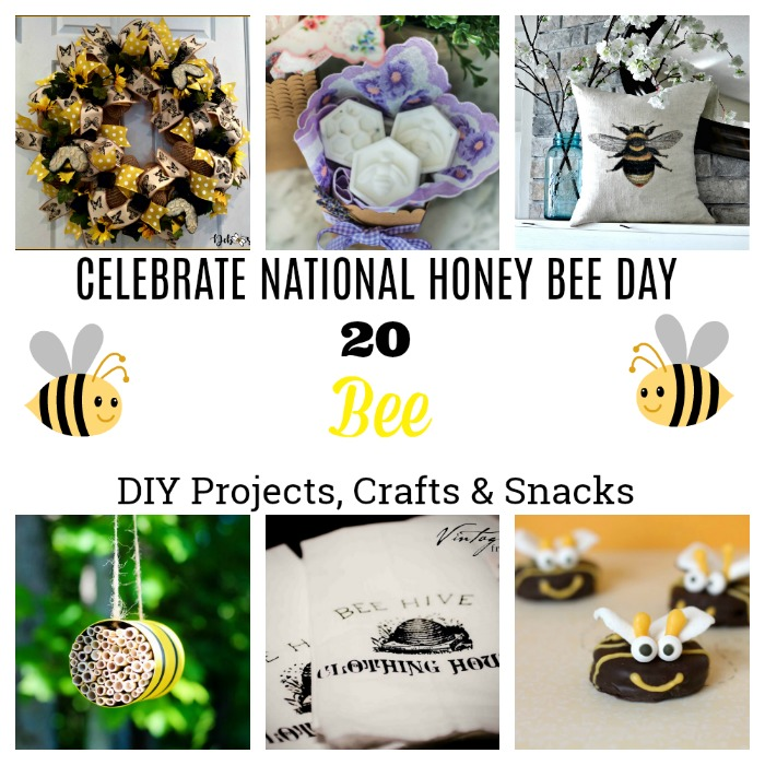 Honey Bee Day DIY Bee Projects Kid Crafts | knickoftime.net