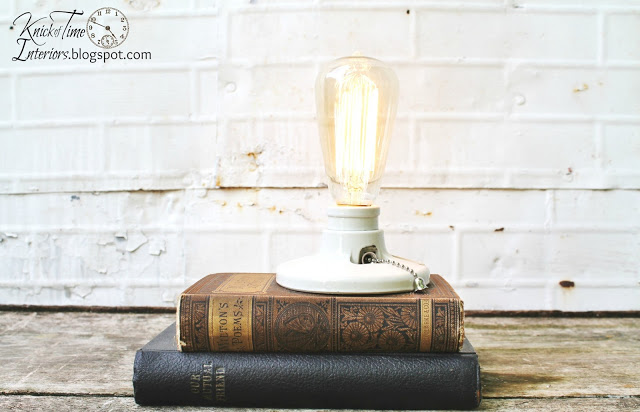 Repurposed Antique Books Light | knickoftime.net