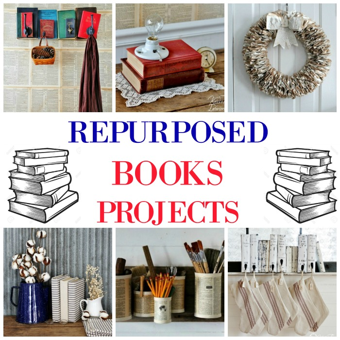 Repurposed Book Projects by Knick of Time | knickoftime.net