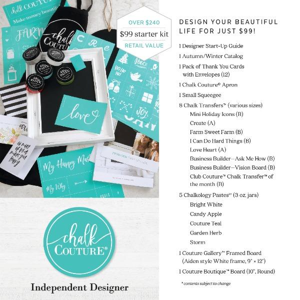 Chalk Couture 2018 Starter Kit Join My Team! | https://www.chalkcouture.com/knickoftime/enrollment/packs