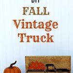 Fall Farmhouse Decor: Chalk Couture Vintage Truck