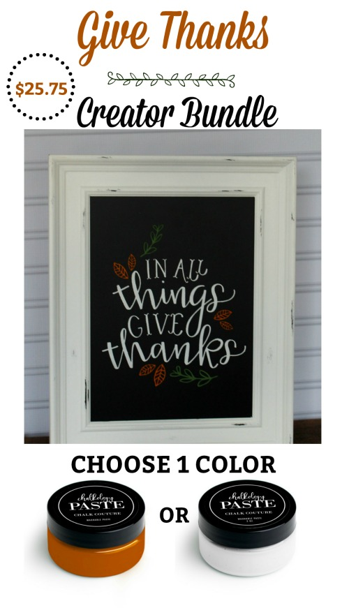 Chalk Couture Give Thanks Creator Bundle from Knick of Time | knickoftime.net