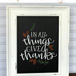Easy DIY Fall Chalkboard Sign: Chalking Series,Part 3