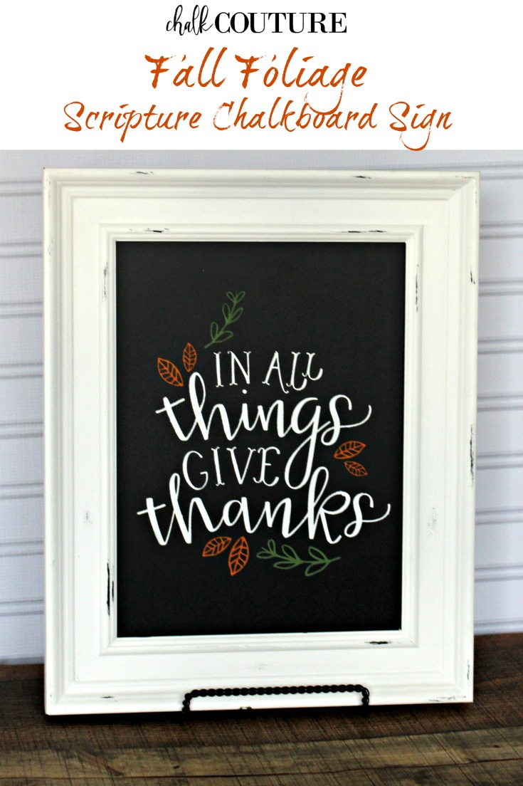 Create an easy DIY Fall chalkboard sign that is perfect for Thanksgiving but its