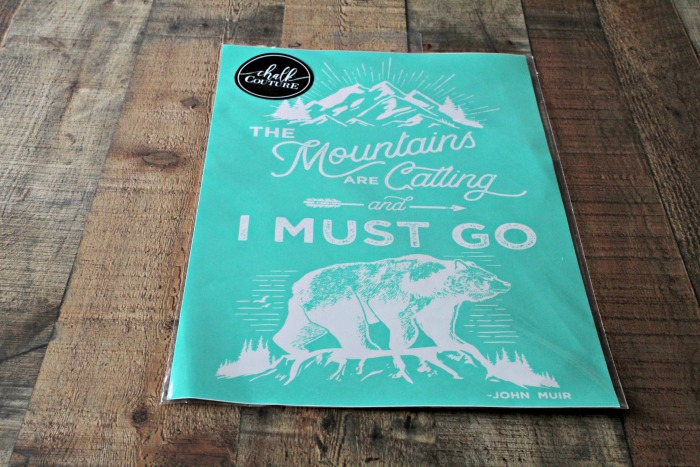 Mountains Are Calling DIY Chalkboard | Series Part 2 | knickoftime.net