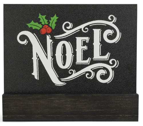 Chalk Couture Noel transfer on board and base available from Knick of Time | https://www.chalkcouture.com/knickoftime