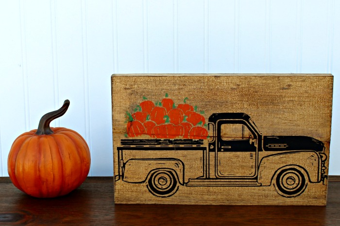 Chalk Couture Demo: Chalk Couture Black Vintage Truck Fall Home Decor | knickoftime.net