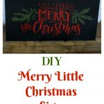 Make this Have Yourself a Merry Little Christmas Chalkboard Sign! It's easy with a Chalk Couture Christmas Cheer transfer. Project by Knick of Time | knickoftime.net