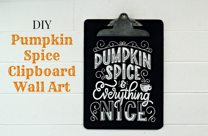 DIY Pumpkin Spice Fall Clipboard with Chalk Couture and Dixie Belle Midnight Sky Paint | knickoftime.net