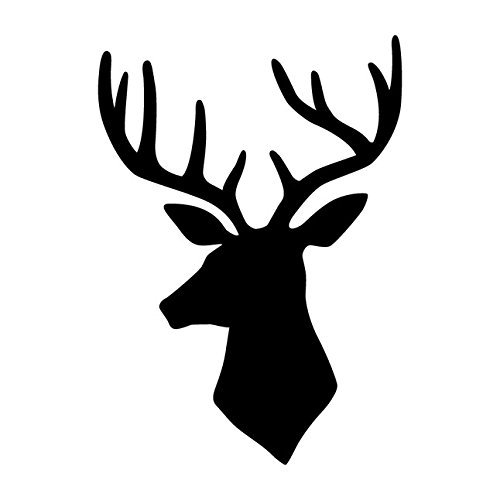 Deer Head Furniture Stencil