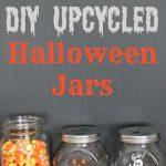Make super cute Upcycled Dollar Tree DIY Halloween Glass Jars that are so easy even kids can do it! | knickoftime.net