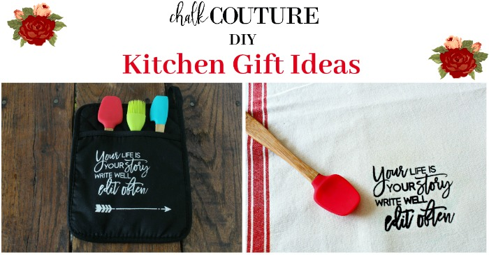 Easy an Inexpensive Chalk Couture DIY Kitchen Gift Ideas Tutorial at Knick of Time | knickoftime.net