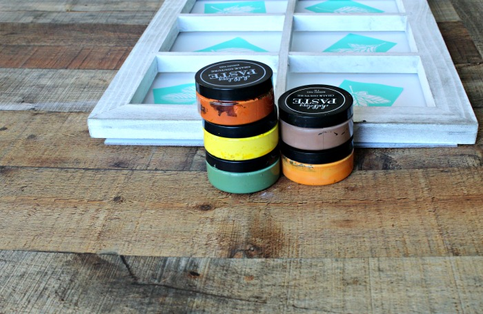 Chalk Couture Fall leaves Chalkology paste colors used | knickoftime.net