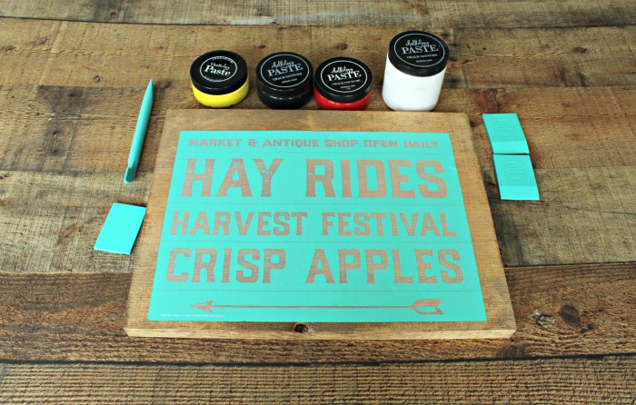 How to Make DIY Colorful Fall Farmhouse Wooden Signs with Chalk Couture | knickoftime.net