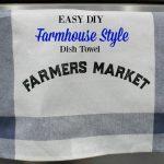 Farmhouse Style Ikea DIY Towel | 15 Days of Chalking, Part 4