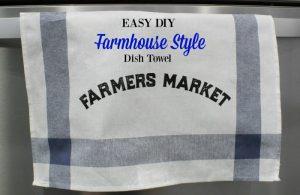 Farmhouse Style Ikea DIY Towel   15 Days of Chalking, Part 4