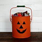 Jack O' Lantern Halloween Treat Bucket from an Old Bucket