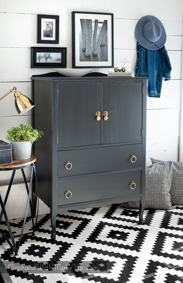 Trending Dark Moody Colors Dresser Makeover