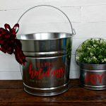 Galvanized Christmas DIY Gift Basket Buckets and Tins to make! | knickoftime.net