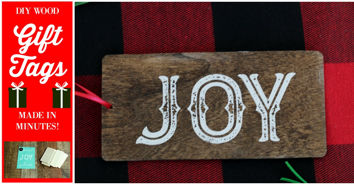 DIY Wood Christmas Gift Tags That Are Easy and Fun to Make!