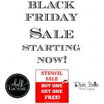 Chalk Couture Dixie Belle Vintage Sign Stencils Black Friday Sale at Knick of Time| knickoftime.net
