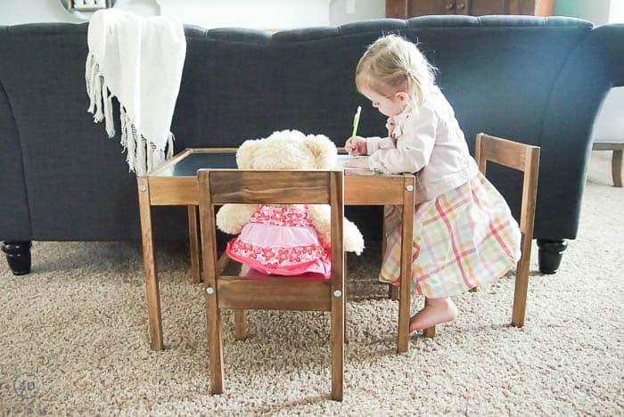 Ikea Hack Industrial Kids Table Simply Designing