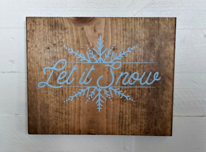 Let it Snow Wood Wall Sign Home Decor by Knick of Time | knickoftime.net
