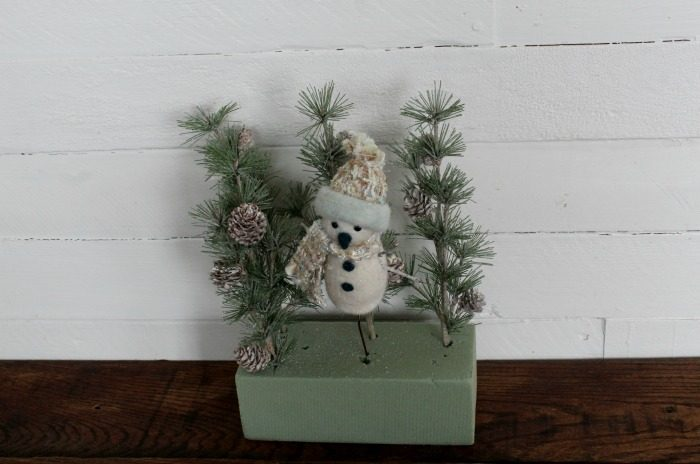 Let It Snow Snowman Crate & Sign by Knick of Time   knickoftime.net