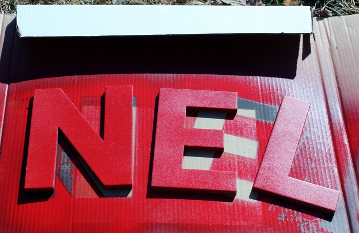 Painted chipboard letters for Noel sign | knickoftime.net