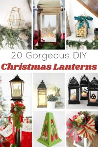 Gorgeous Christmas Christmas Lanterns to DIY Roundup from Knick of Time|knickoftime.net