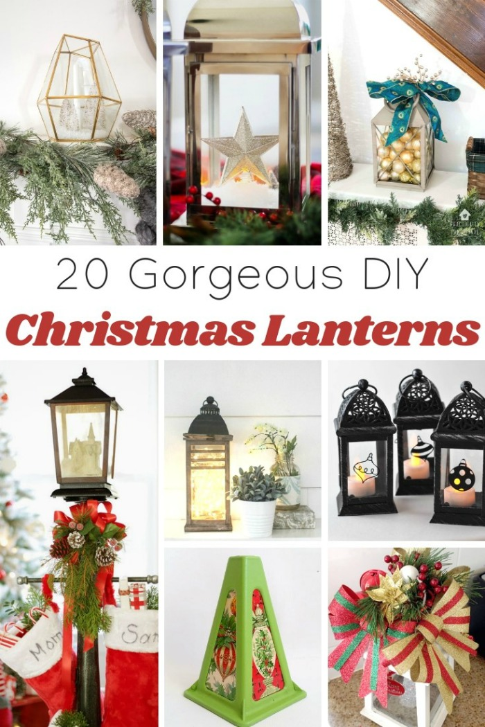 Beautiful DIY Christmas Lanterns Roundup by Knick of Time | knickoftime.net