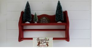 Bottle Brush Christmas Tree Towel Display Shelf by Knick of Time| knickoftime.net