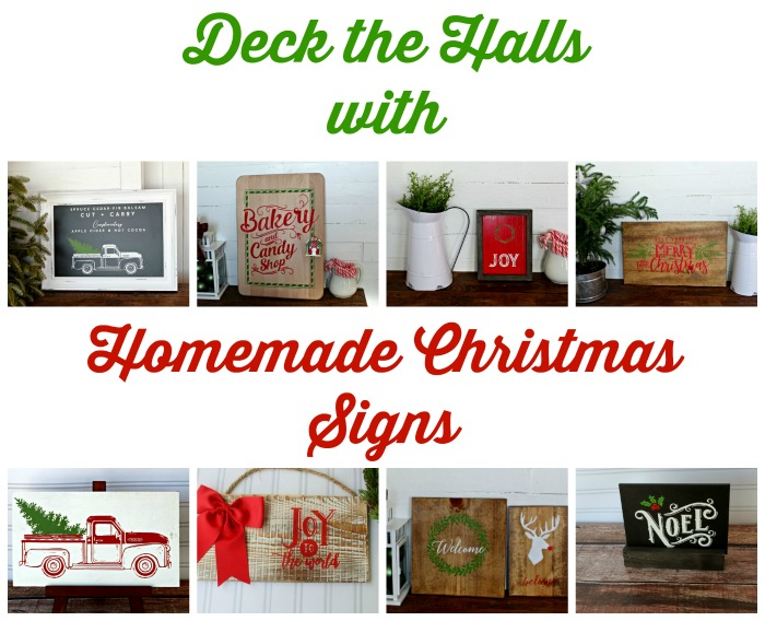 Decking the Halls with Homemade Christmas Signs is much more fun than buying from a store and at a fraction of the cost. They make thoughtful gifts too! Here are 8 handmade signs to inspire your creativity by Knick of Time | knickoftime.net