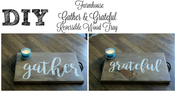 ather & Grateful Words Reversible Wood Stained Holiday Tray by Knick of Time | knickoftime.net